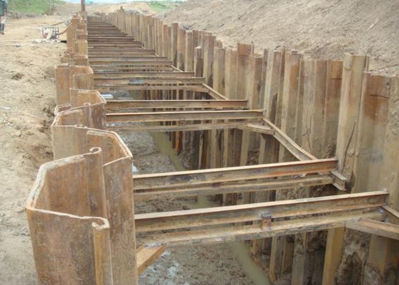 关于钢板桩的施工流程